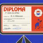 Jiu Jitsu diploma 3e dan