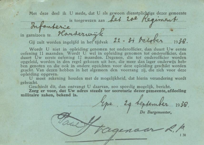 1938 Indeling Dienstplicht Harderwijk_1