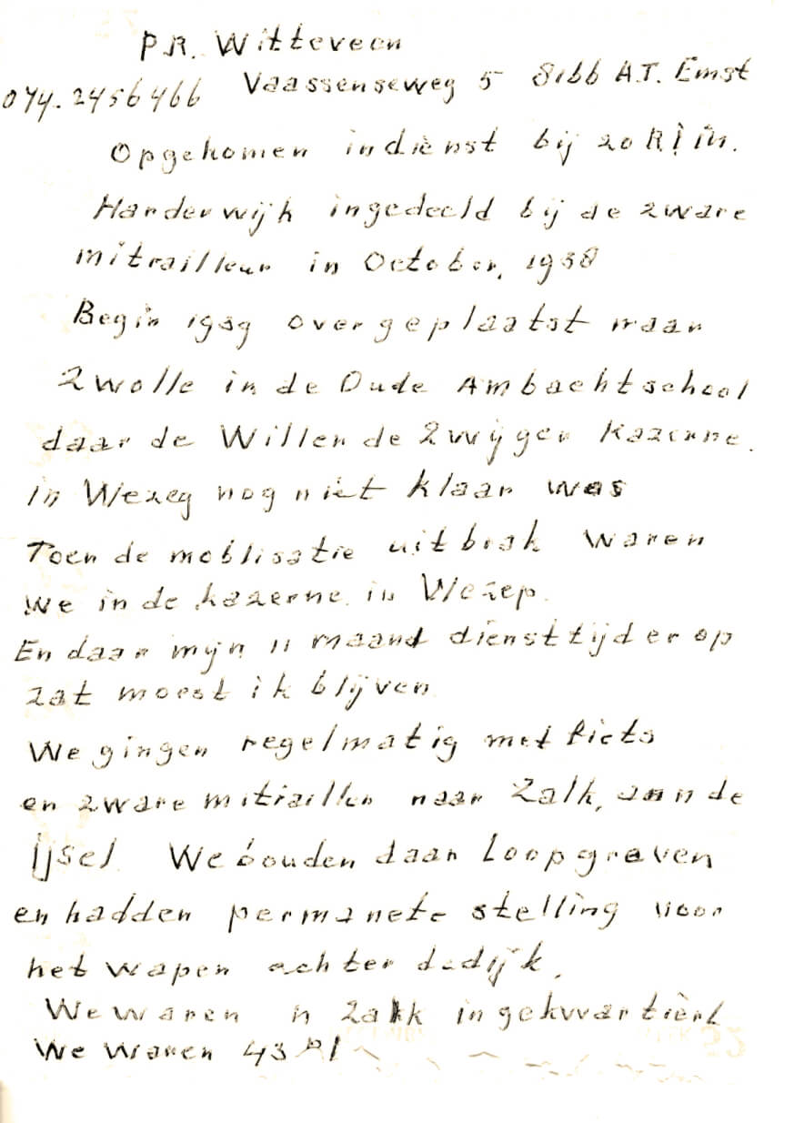 1940 Beschrijving van de oorlogsdagen door Pa 2