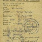 1945 Bewijs Bewakingsdienst BS